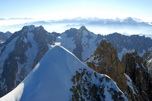Panoramic flight 10 min. Aiguille Verte